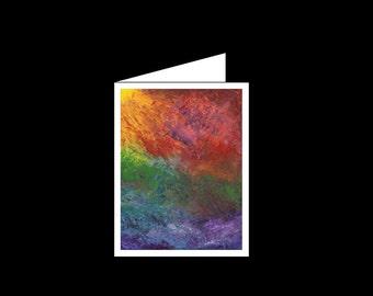 Acrylic - Greeting Card - Rising Sun