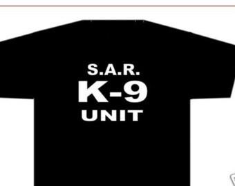K-9 unit SAR t-shirt