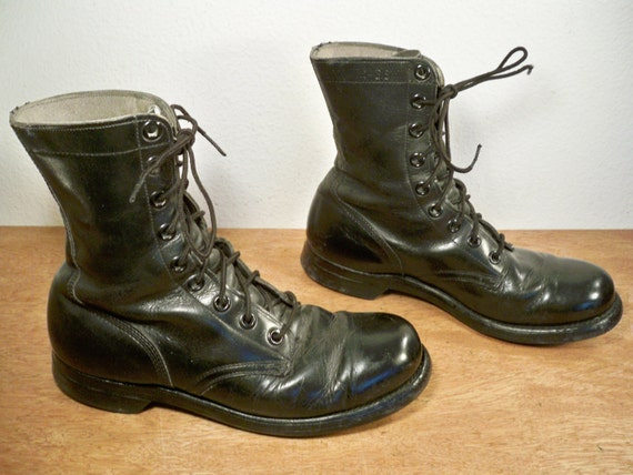 vintage panco soles black leather combat nam by
