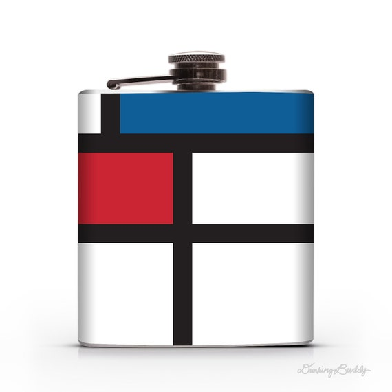Mondrian- 6oz Liquor Hip Flask