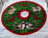 Christmas Wildlife Tree Skirt Fabric
