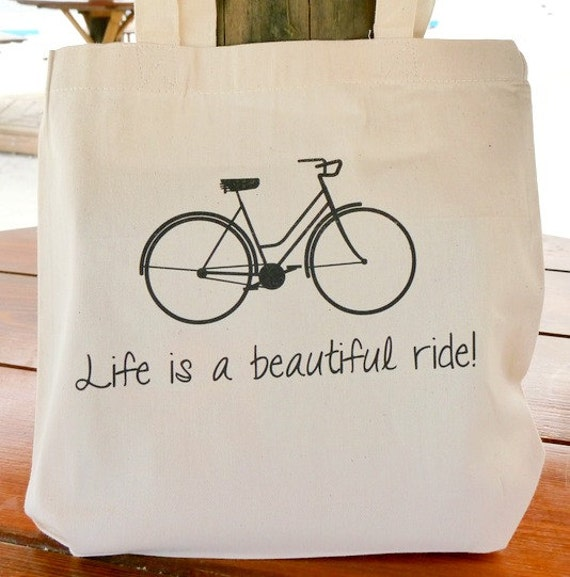 Canvas Tote Bag - Life is a Beautiful Ride