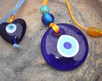 Talisman Greek Turkish Blue glass Evil Eye charm Lucky Eye Matia Greece ornament