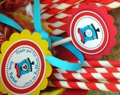 Train Birthday Party - 20 Favor Tags - Cupcake Birthday