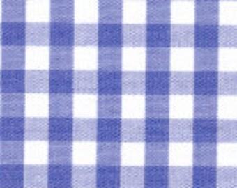 "HALF YARD 1/4"" ROYAL Fabric Finders Gingham"