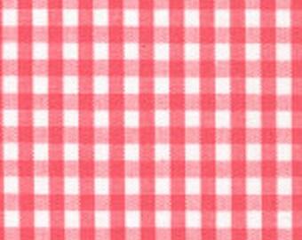 "HALF YARD 1/8"" WATERMELON Fabric Finders Gingham"