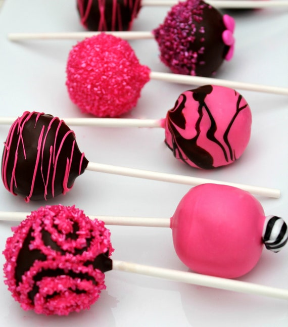 Hot Pink Cake Images : Black & Hot Pink Cake Pops