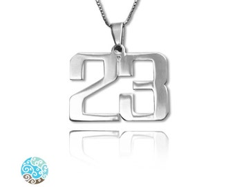 Personalized Number Necklace in Sterling Silver 0.925 Name Necklace