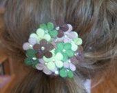 Daisy green/brown ponytail holder