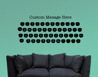 Retro Type Writer keyboard vinyl decal