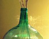 Awesome demi-john demijohn carboy vintage, 16L, blue green, interior, decoracion, decorate.