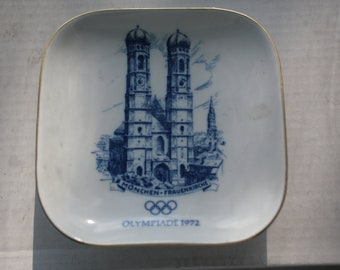 1972 Munich, Germany Olympic Games Commemorative Plate