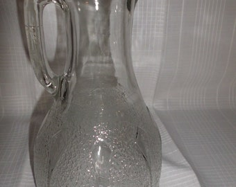 Antique Pressed glass Juice Pitcher