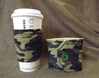 Coffee Cozy by RayvnneHawkesCottage - Camo