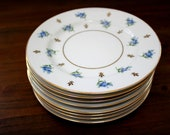 8 Vintage Plates - Noritake China Bread and Butter Plates
