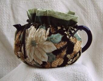 White Poinsettia Teapot Cozy