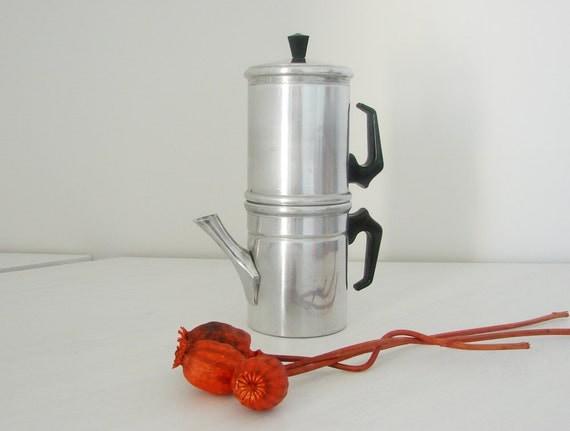 Vintage aluminium Neapolitan coffee maker ILSA made in Italy