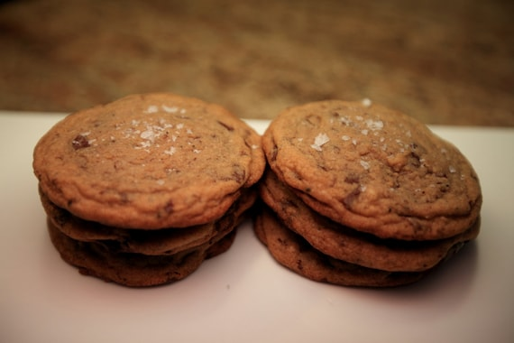 Salted Brown Butter Chocolate Chip Cookies by CraftedTreats