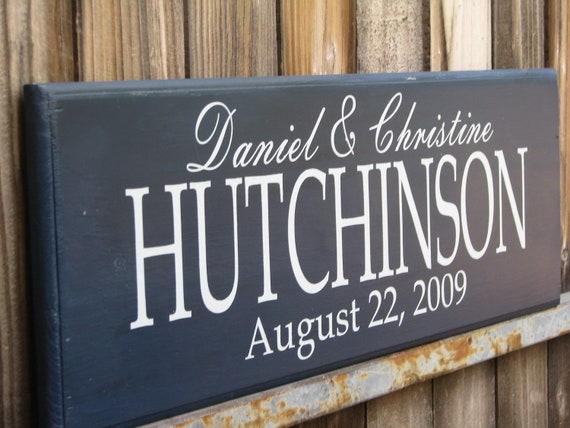 Wedding Gift Signs: Personalized Family Name Signs Bridal Shower Gift Last Name