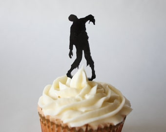 12 Zombie Cupcake Toppers (Acrylic)