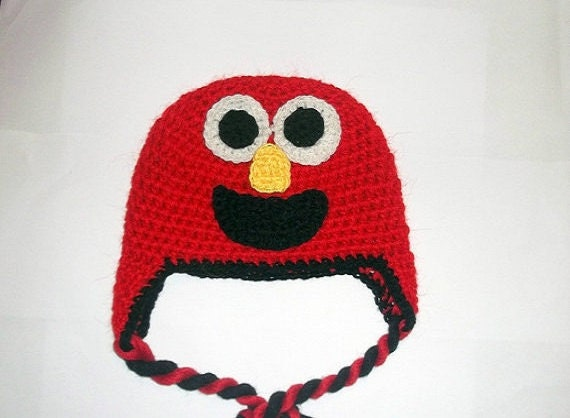 Elmo Hat CROCHET PATTERN Monster Hat Beanie by PatternStudio1