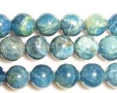 4mm/6mm/7mm/8mm/10mm/12mm/14mm Round Apatite Beads Genuine Natural 15''L Semiprecious Gemstone Bead Wholesale Beads Supply