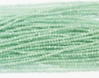 2mm Round Amazonite Gemstone Beads - 9699