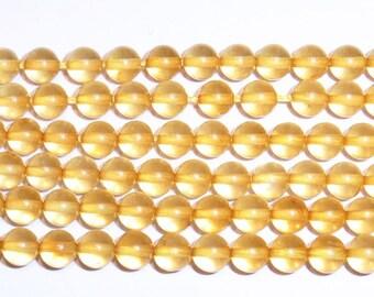 5 mm Round Amber Beads Genuine Natural AAA Grade 15''L 38cm Loose Beads Semiprecious Gemstone Bead   Supply