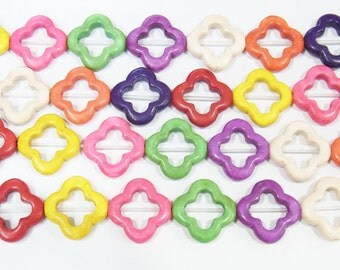 20mm Softcross Magnesite Semi Gemstones Beads 15 inches length, 38 cm - 4460-