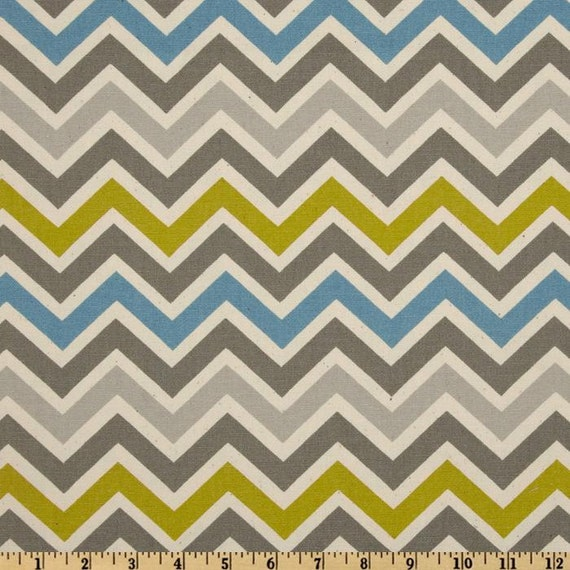 Items similar to chevron fabric by the yard premier for Modern home decor fabric prints