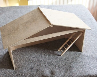 Nativity shelter or stable for Baby Jesus, centre piece at Christmas.