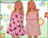 Silly Milly Pillowcase Girls Dress PATTERN + Free Mother-Daughter Apron Pattern, Sewing Patterns for Children, Toddler, PDF, Craft Supplies