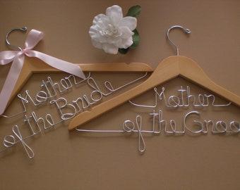 HUGE SALE/Set of 2 Wedding Hangers/Mother of the Bride and Mother of the Groom/Personalized Hangers/Bridal hanger/ Bride,Wedding Accessories