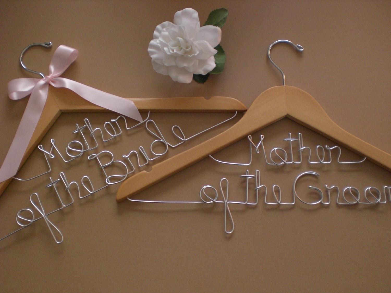 huge saleset of 2 wedding hangersmother wedding hangers zoom