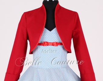 Custom Made & Handmade - Bolero Jacket with long sleeves
