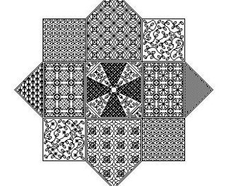 Octagon - embroidery pattern