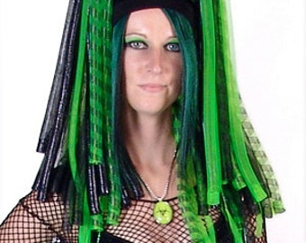 Toxic Trance Cyberlox Falls with Rexlace (Crin, Hair, Dreads, Wig, Biohazard, Nuclear, Zombie, Apocolypse)