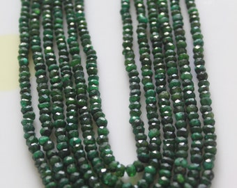 Six Line Green Onyx Gemstone Faceted Necklace