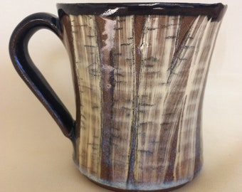 hand painted Birch Tree Mug