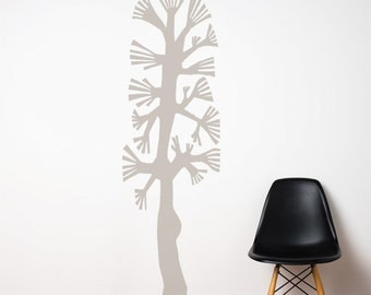 Combtree - Wall Decal - Warm Grey