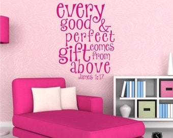 Good and Perfect Gift Wall Decal Text - Kids Wall Quotes