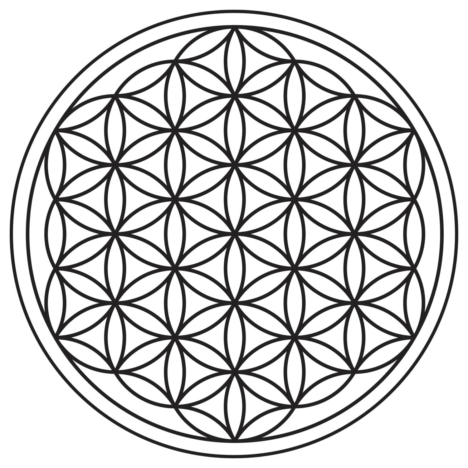 Flower of Life Black & White 12 x 12 Print by ElementalHealingShop: https://www.etsy.com/listing/153875044/flower-of-life-black-white...