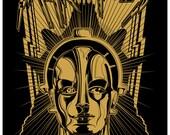 Metropolis screenprint Poster-Maria-Fritz Lang-1927 film