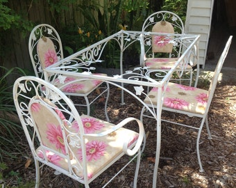 15% off through November! Mid Century patio set - Woodard/Salterini era, 1940's-50's