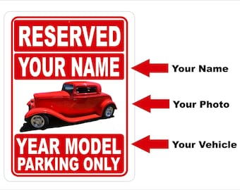 Metal Reserved Parking SIgn - Custom