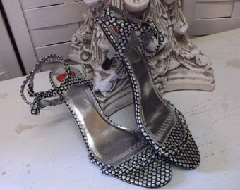 Tahany Sparkly Heels - Vintage Shoes Size 8 1/2M