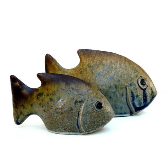 Ceramic fish fish ornament small sculpture for Ceramic fish sculpture