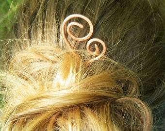 Hair Pin, Mother Child Hair Stick, Hair Sticks, Copper, Hair Accessories,