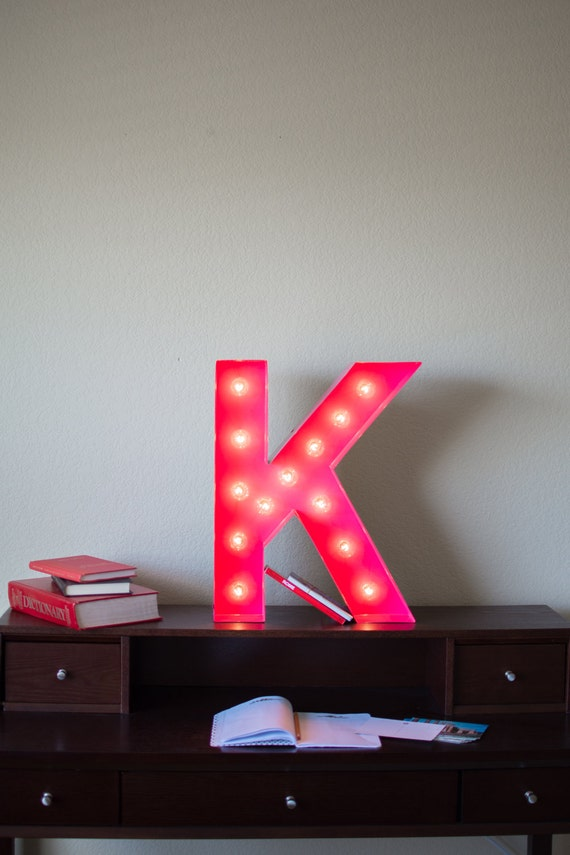 Vintage Inspired Marquee Light- Letter K
