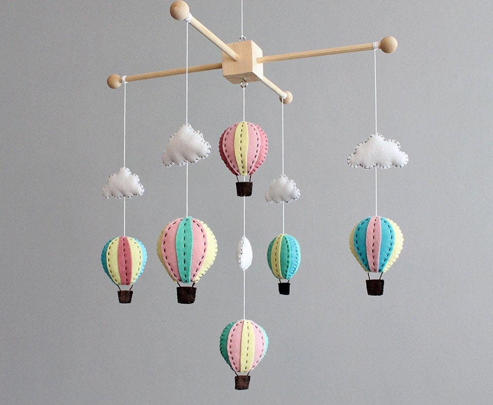diy baby mobile kit make your own hot air balloon by ...